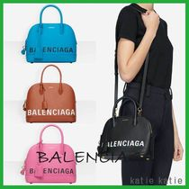 BALENCIAGA VILLE Casual Style Street Style 2WAY Plain Leather Shoulder Bags