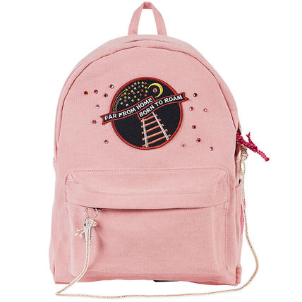 Casual Style Canvas A4 Backpacks
