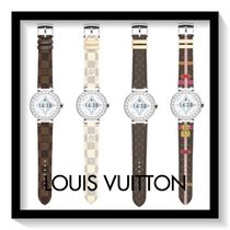 Louis Vuitton Casual Style Blended Fabrics Metal Round Digital Watches