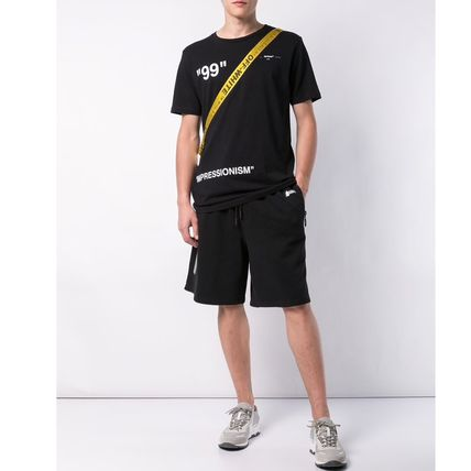 Off-White Crew Neck Crew Neck Plain Cotton Short Sleeves Crew Neck T-Shirts 2
