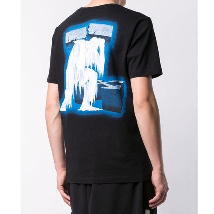Off-White Crew Neck Crew Neck Plain Cotton Short Sleeves Crew Neck T-Shirts 4