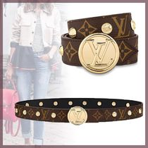 Louis Vuitton TWIST Monogram Blended Fabrics Studded Bi-color Leather