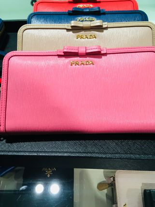 PRADA Long Wallets Plain Long Wallets