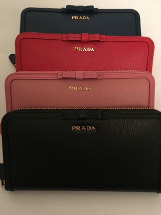 PRADA Long Wallets Plain Long Wallets 2