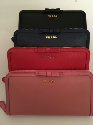 PRADA Long Wallets Plain Long Wallets 3