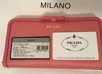 PRADA Long Wallets Plain Long Wallets 7