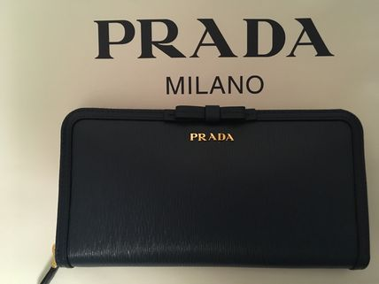 PRADA Long Wallets Plain Long Wallets 18