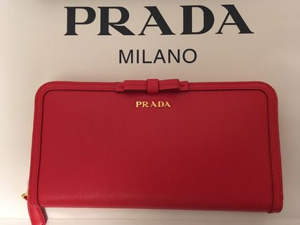 PRADA Long Wallets Plain Long Wallets 15