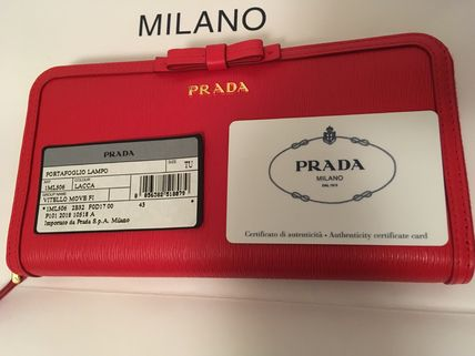 PRADA Long Wallets Plain Long Wallets 17