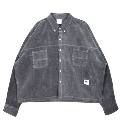 OPEN THE DOOR Shirts Unisex Corduroy Street Style Plain Shirts 13