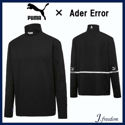 ADERERROR Sweatshirts Street Style Collaboration Long Sleeves Plain Sweatshirts