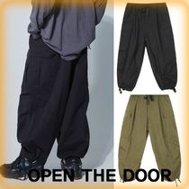 OPEN THE DOOR Street Style Plain Cargo Pants