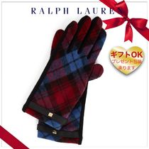 Ralph Lauren Tartan Wool Smartphone Use Gloves