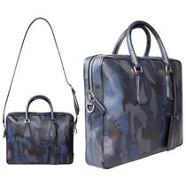 PRADA Camouflage Unisex 2WAY Leather Business & Briefcases
