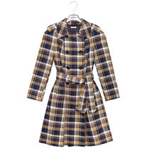 MiuMiu Other Check Patterns Casual Style Medium Trench Coats