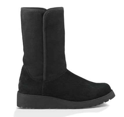 UGG Australia AMIE Round Toe Casual Style Suede Plain Wedge Boots