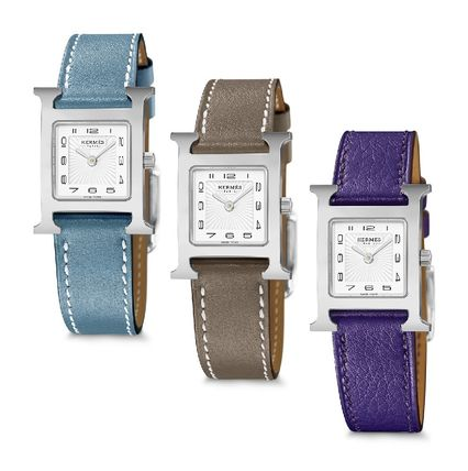 HERMES Analog Leather Quartz Watches Elegant Style Analog Watches 3