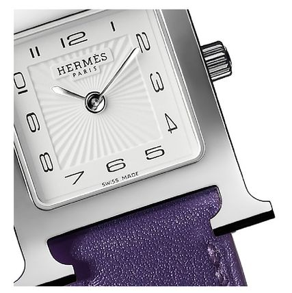HERMES Analog Leather Quartz Watches Elegant Style Analog Watches 8