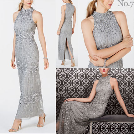 Maxi Sleeveless Halter Neck Long With Jewels Dresses