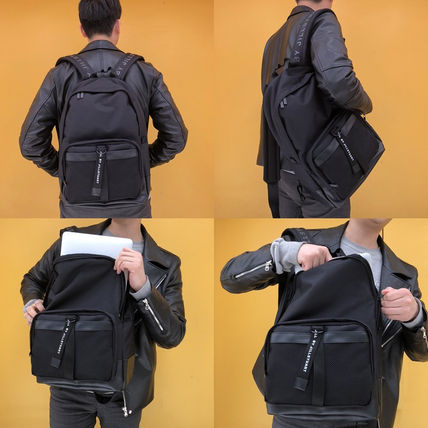 Casual Style A4 Plain Backpacks