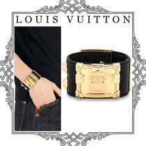 Louis Vuitton MONOGRAM Costume Jewelry Blended Fabrics Leather Elegant Style