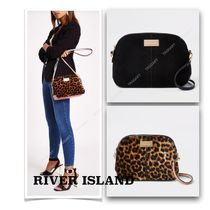 River Island Leopard Patterns Faux Fur Blended Fabrics 2WAY Plain