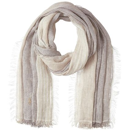 Stripes Casual Style Unisex Linen Accessories