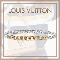 Louis Vuitton Blended Fabrics Bi-color Chain Elegant Style Belts