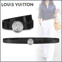 Louis Vuitton EPI Blended Fabrics Plain Leather Elegant Style Belts