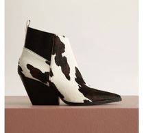 MANGO Spawn Skin Other Animal Patterns Chelsea Boots Chunky Heels