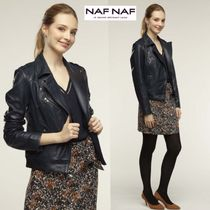 NAF NAF Plain Leather Medium Biker Jackets