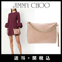 Jimmy Choo Chain Plain Leather Party Style Clutches