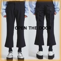 OPEN THE DOOR Street Style Plain Cropped Pants