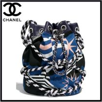 CHANEL Casual Style Blended Fabrics Handbags
