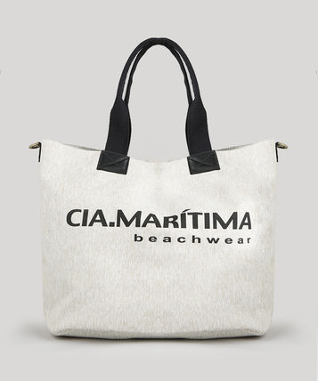 Casual Style Collaboration Plain Totes