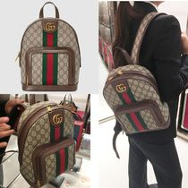 GUCCI Ophidia Monogram Casual Style Canvas Backpacks