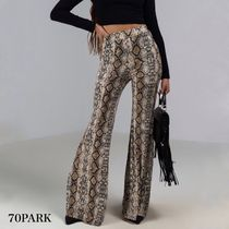 Printed Pants Casual Style Street Style Long Python Pants