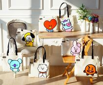 BT21 Casual Style Unisex A4 Crystal Clear Bags PVC Clothing Totes