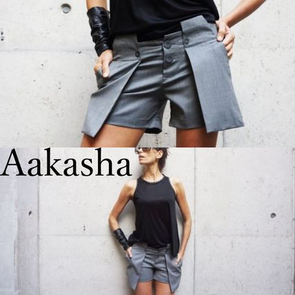 Aakasha Short Casual Style Collaboration Plain Shorts