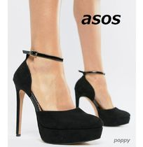 ASOS Round Toe Suede Plain Pin Heels Party Style Shoes