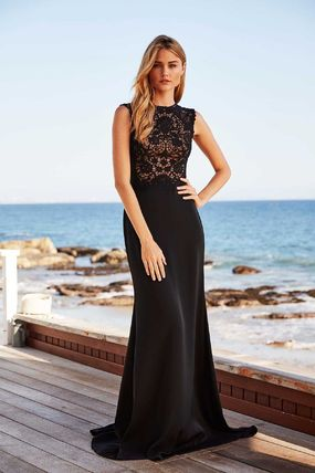 Maxi Plain Long Elegant Style Dresses