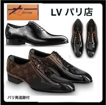 Louis Vuitton MONOGRAM Monogram Enamel Plain Handmade Oxfords
