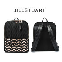 JILLSTUART Other Check Patterns Casual Style A4 Bi-color With Jewels