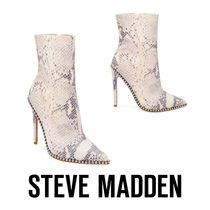 Steve Madden Leather Pin Heels Party Style Python Ankle & Booties Boots