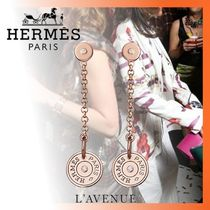 HERMES Costume Jewelry Chain Earrings & Piercings