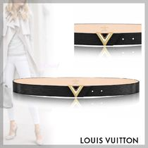 Louis Vuitton MONOGRAM Blended Fabrics Plain Leather Elegant Style Belts