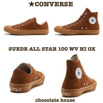 CONVERSE ALL STAR Unisex Suede Plain Sneakers