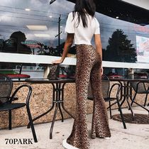 Printed Pants Leopard Patterns Casual Style Street Style