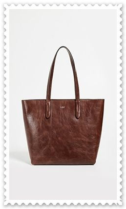 Unisex A4 Plain Leather Elegant Style Totes