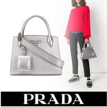 PRADA BIBLIOTHEQUE Plain Leather Handbags